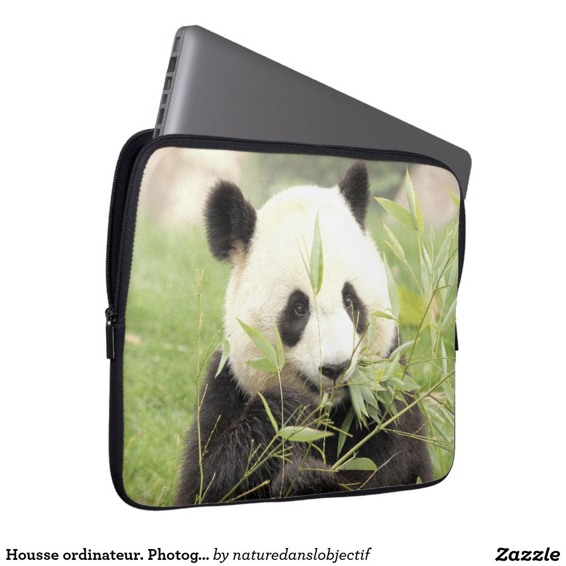 Cover computer. Photography Giant Panda Laptop Computer Sleeve