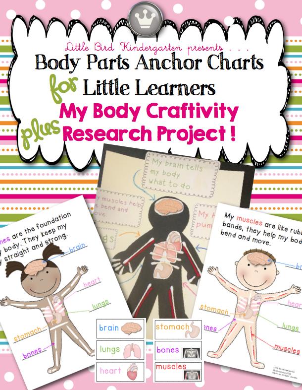 Little Bird Kindergarten: My Body Anchor Charts plus