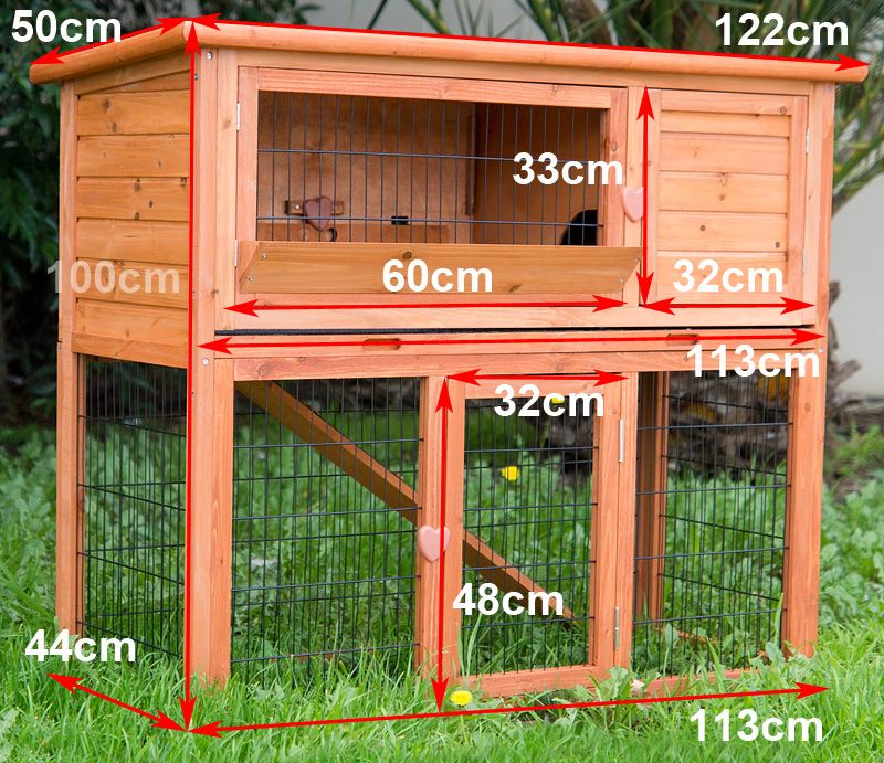 easy to build rabbit hutch large rabbit hutch guinea pig