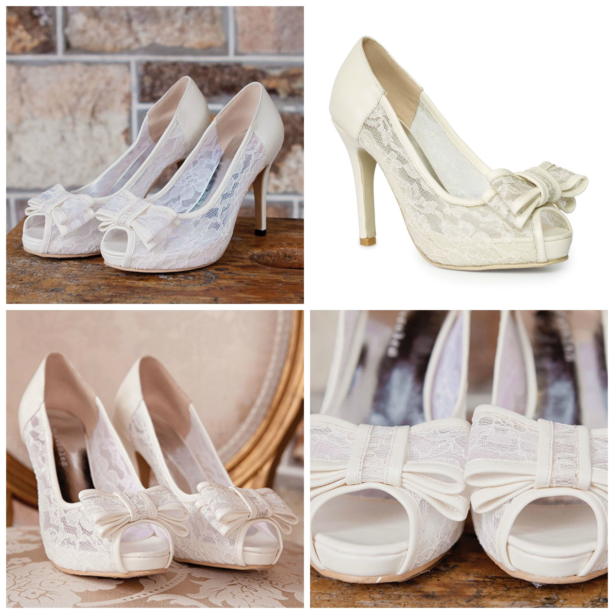 Only one pair left for the lovely At Last Ivory Peep Toe in size 7 (US)! Get this pair now at www.foreversoles.com x #weddingshoes #bridalshoes #boho #vintage