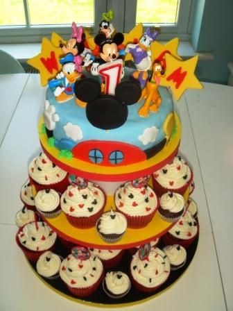 Excellent Mickey Mouse Clubhouse 1St Birthday Cupcakes 1St Birthday Funny Birthday Cards Online Inifofree Goldxyz