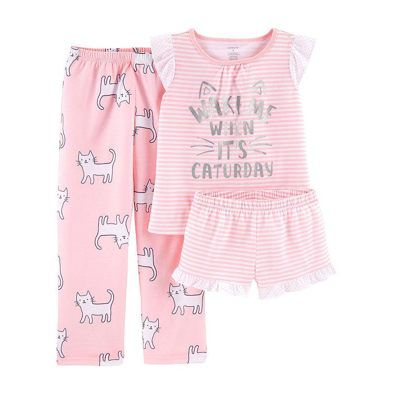 08604e907 Carter s Carter S 3-Pc. Cotton Sleep Set - Preschool Girl 3-pc. Pajama Set  Girls