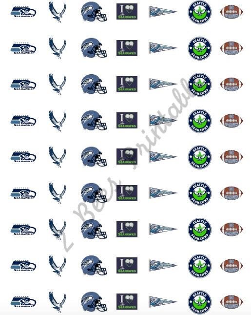 Printable seattle seahawks stickers for planners never forget a seahawks game or event with these
