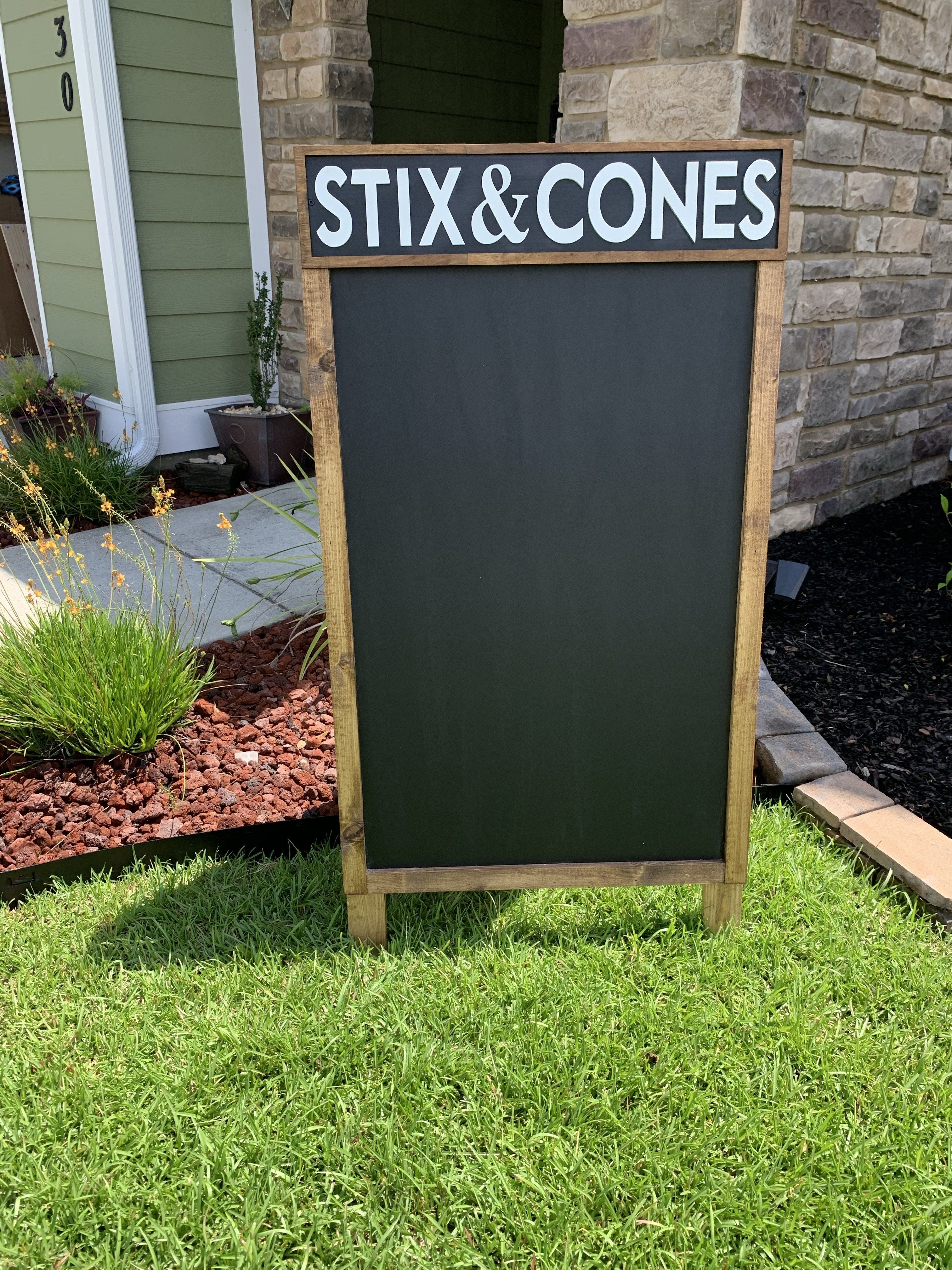 Photo of Custom A-frame Wood Sign