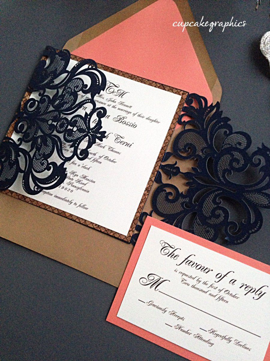 navy and coral wedding invitations navy amp carol wedding invitation suite invitation suite 6112