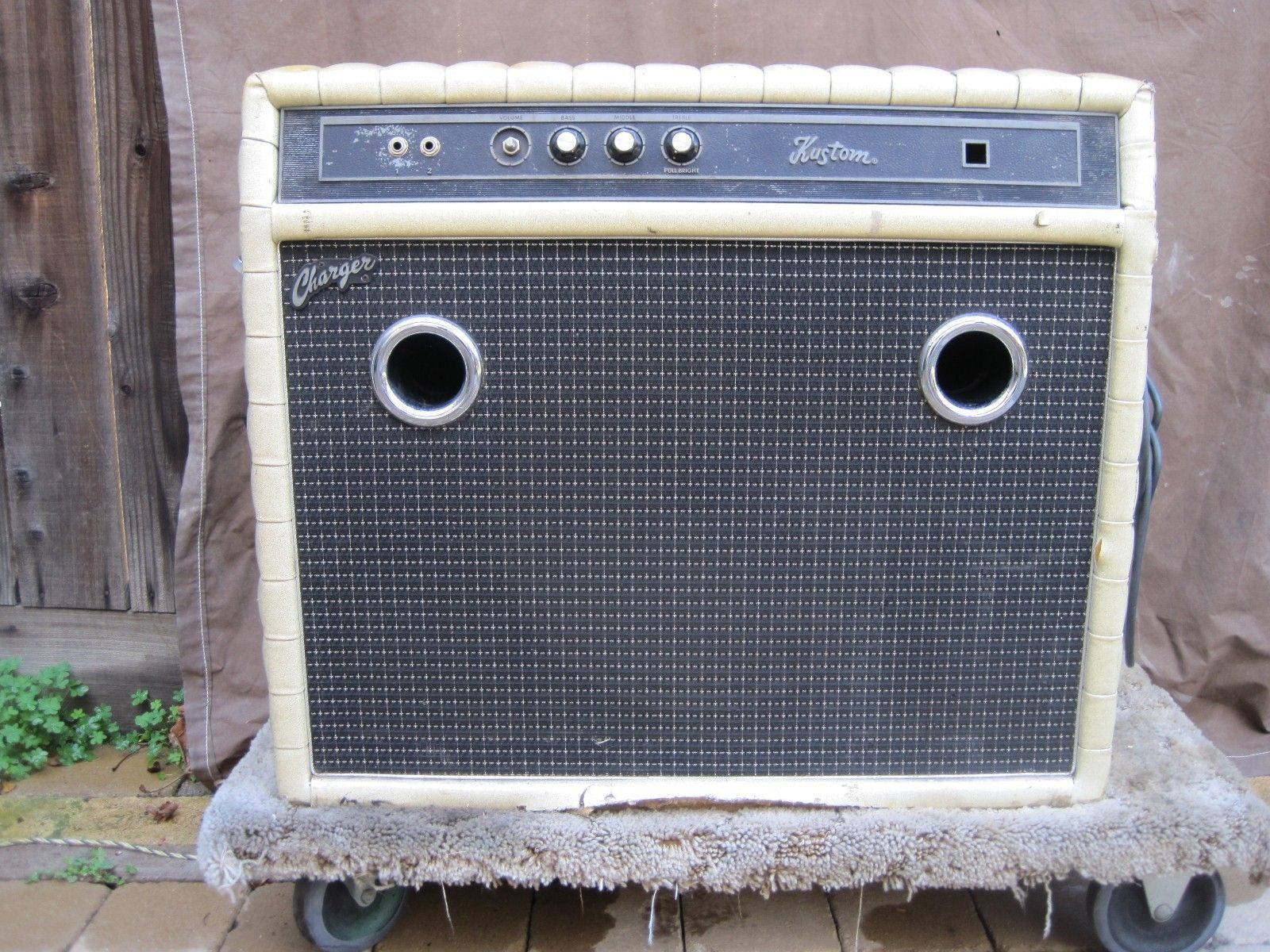 Kustom 1x12 Cabinet Fogerty Used Recorded 60s Kustom Amp Creedence 100 Authentic