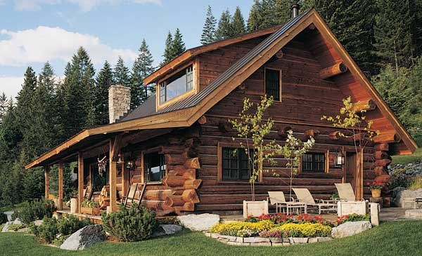 Charmant Log Cabin Plan By Montana Log Homes