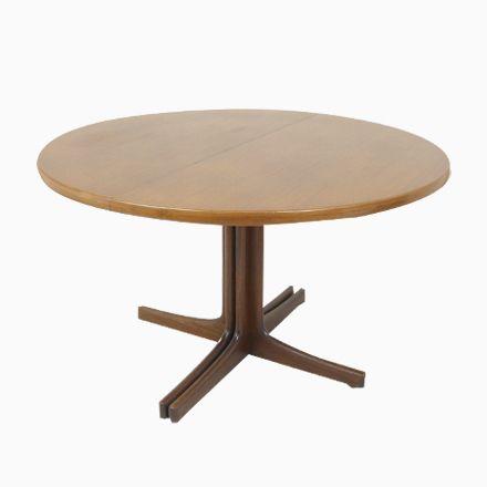 Runder Ausziehbarer Tisch Aus Teak, 1960er Jetzt Bestellen Unter: ...