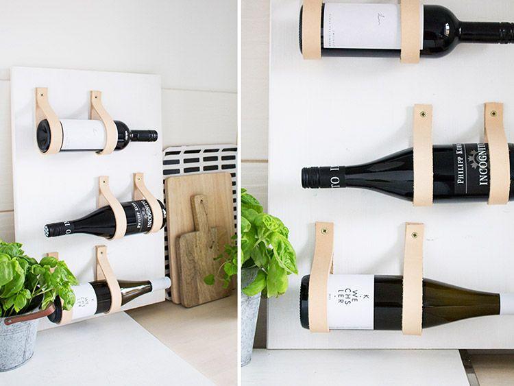 tutoriel diy fabriquer une tag re vin avec des bandes. Black Bedroom Furniture Sets. Home Design Ideas