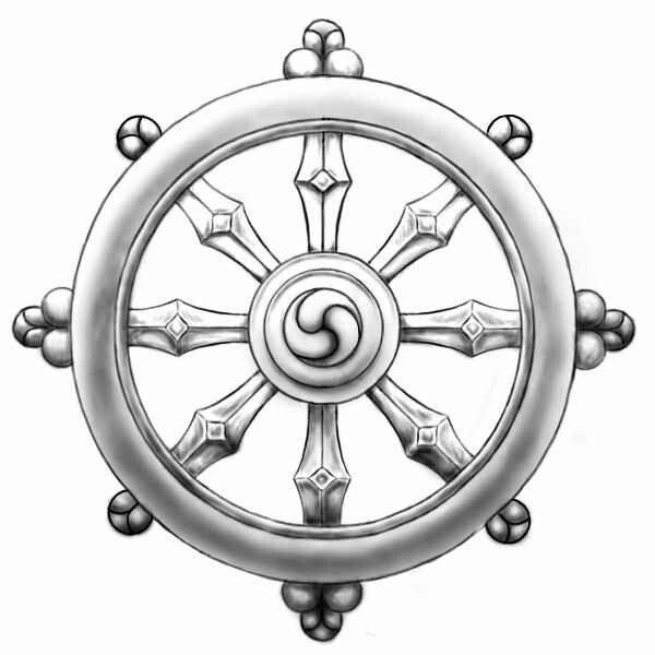 dhamma wheel tattoo design tattoo ideas pinterest wheel