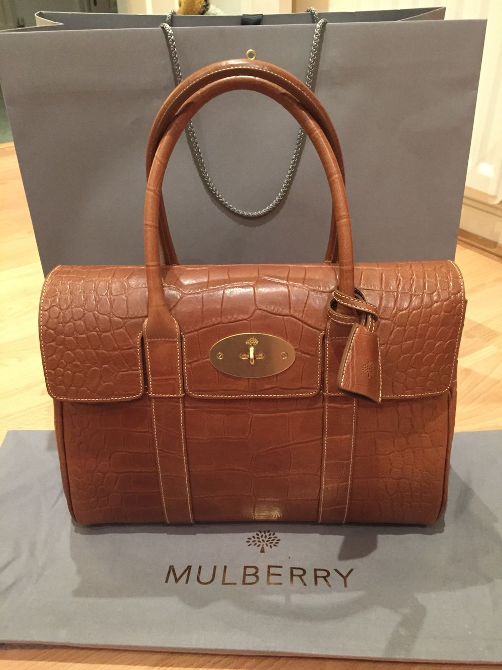 Yay! My stunning new Mulberry Bayswater in printed oak  33a577d2e1bb8