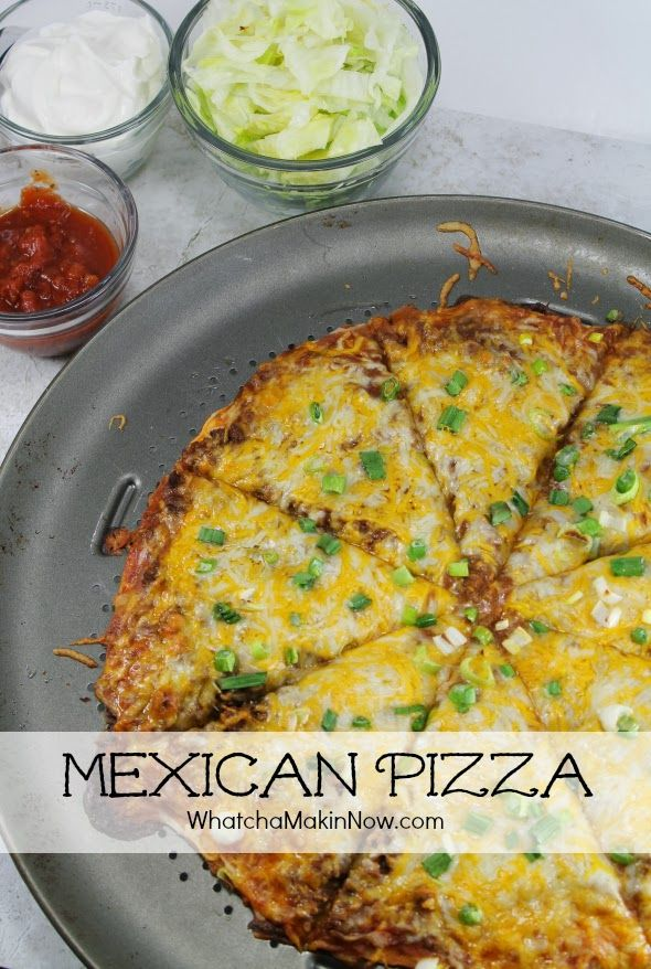 Super delicious Mexican / Taco Pizza - Change up taco night with ...