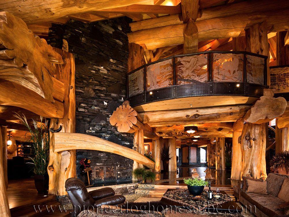 Favorit Pioneer Log Homes of BC | Log Home Interior | Pinterest | Maison  BR94