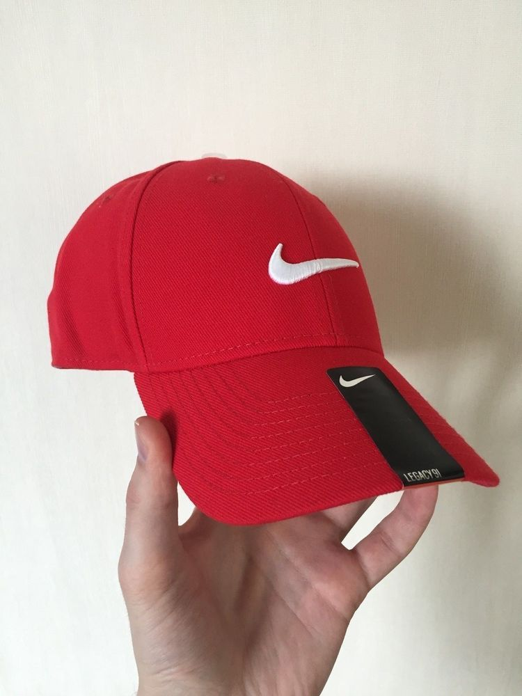 9abe32fcdbded clearance new nike cap hat red w white logo c2e5c 0f161