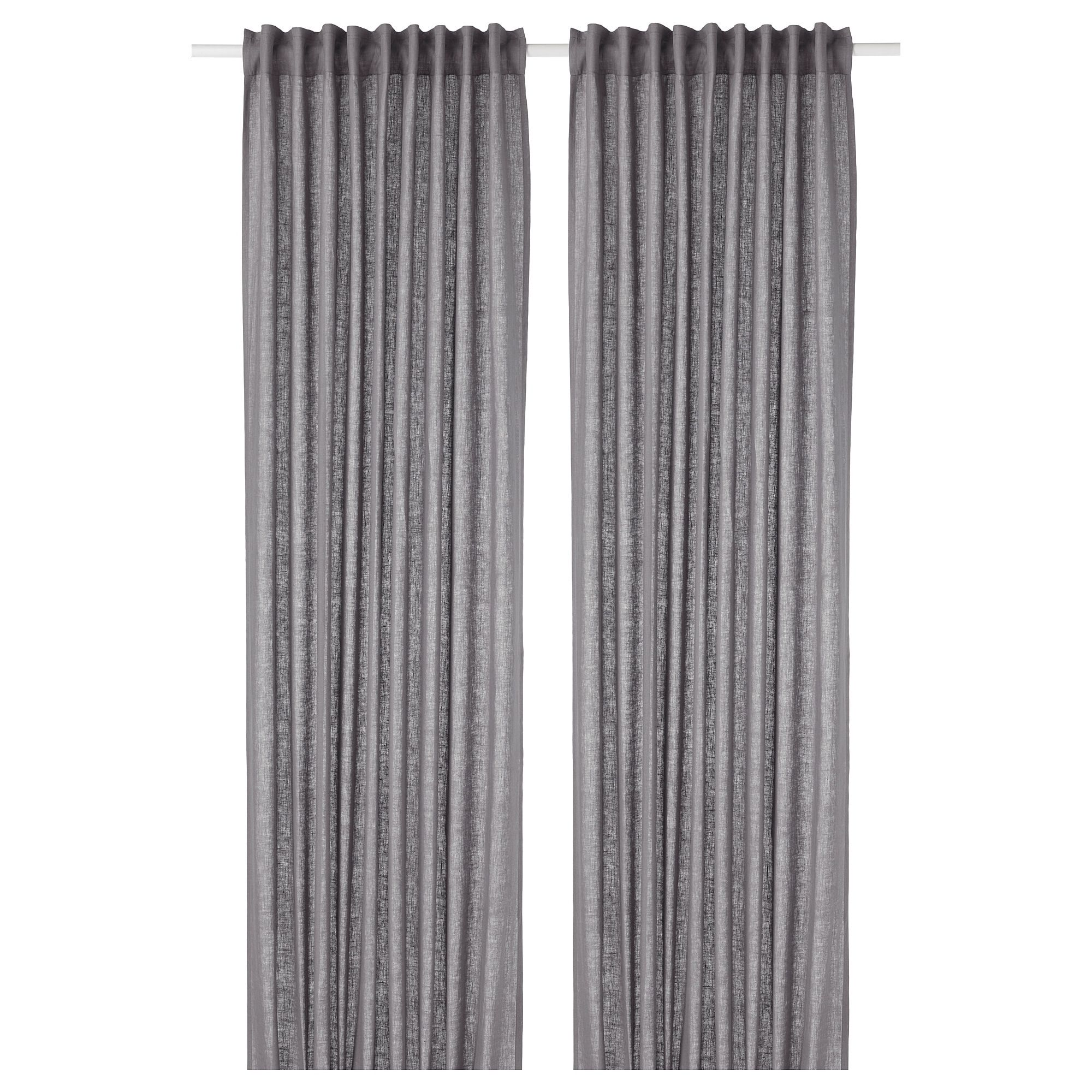 Aina Curtains 1 Pair Dark Gray 57x98 With Images Curtains