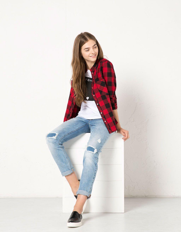 3e4adabb413 Bershka Serbia - BSK straight leg girlfriend jeans