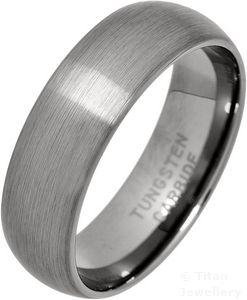 Tungsten Carbide 7mm Court Band Wedding Ring KhBWXOcd