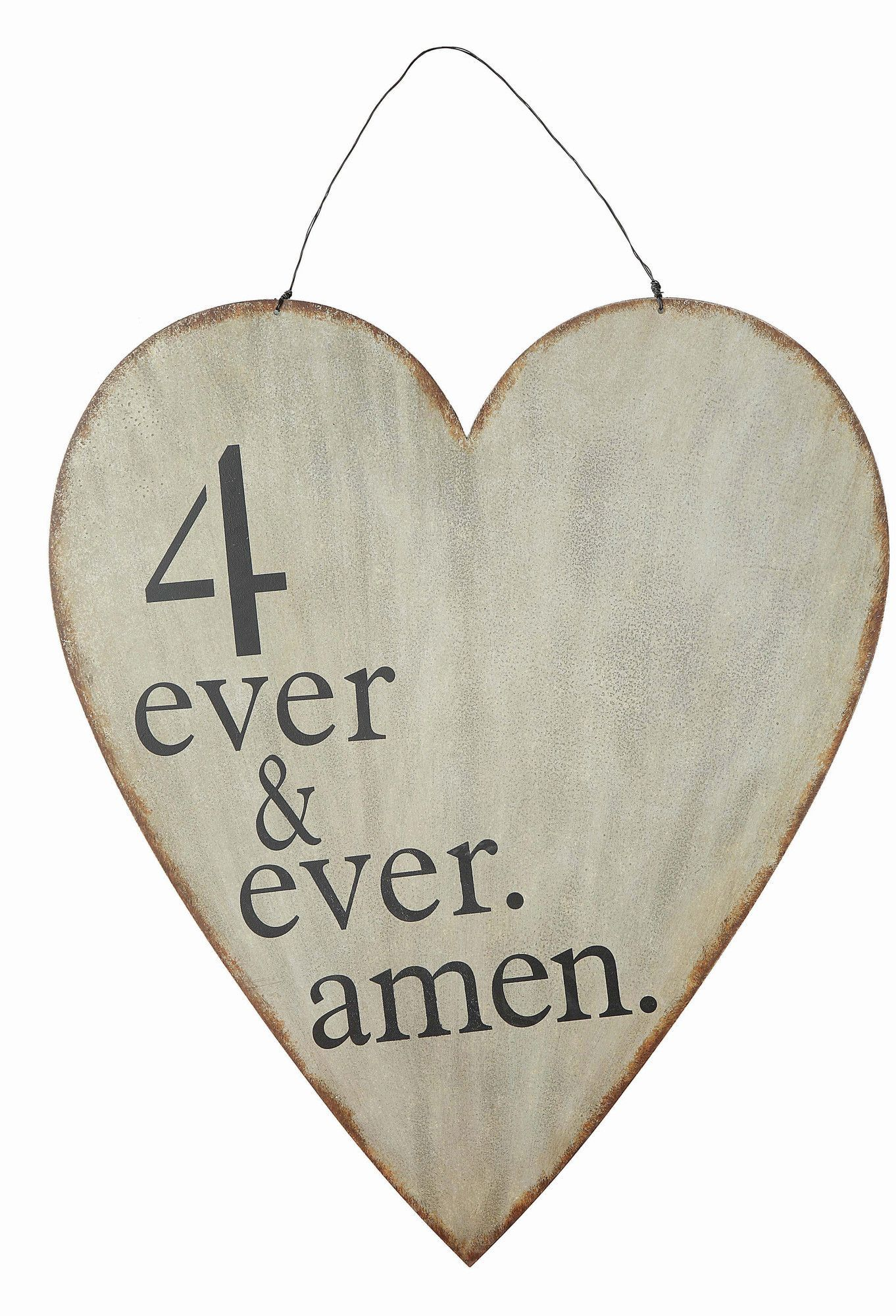 Creative coop cottage ever u ever amen heart wall decor u reviews
