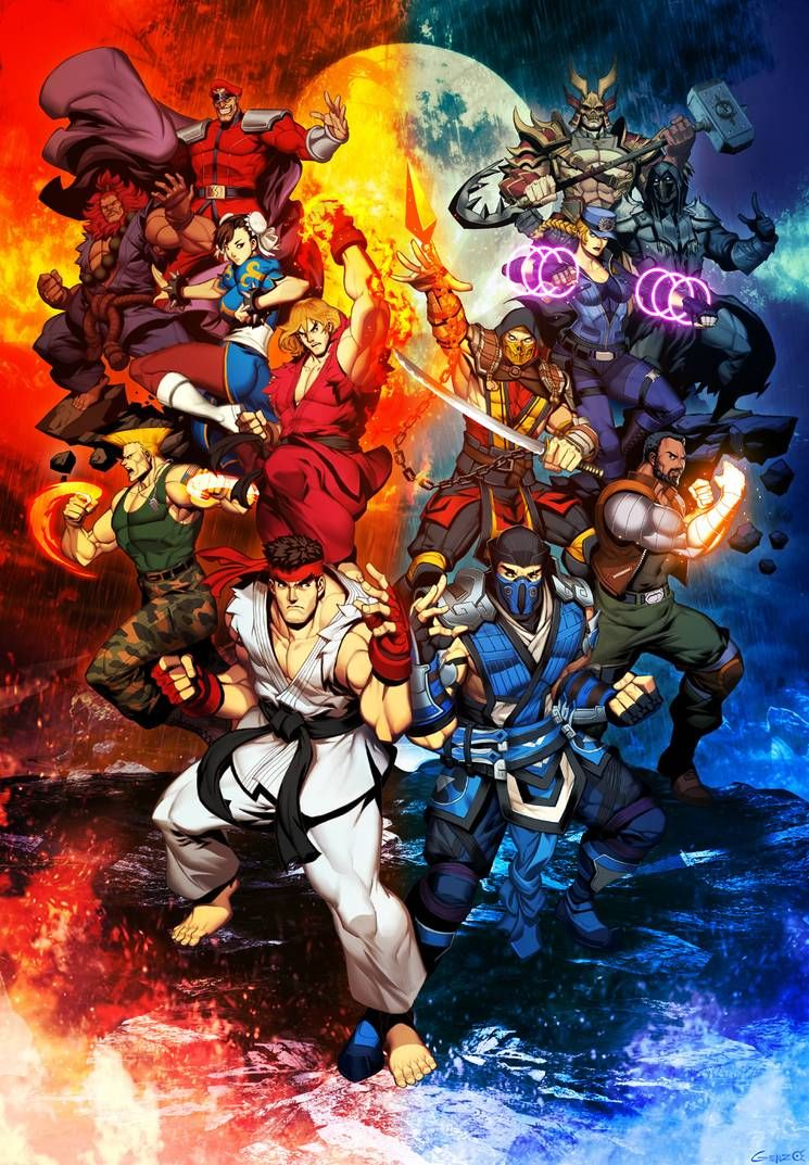 Street Fighter Vs Mortal Kombat By Genzoman On Deviantart In 2020 Mortal Kombat Art Street Fighter Wallpaper Street Fighter
