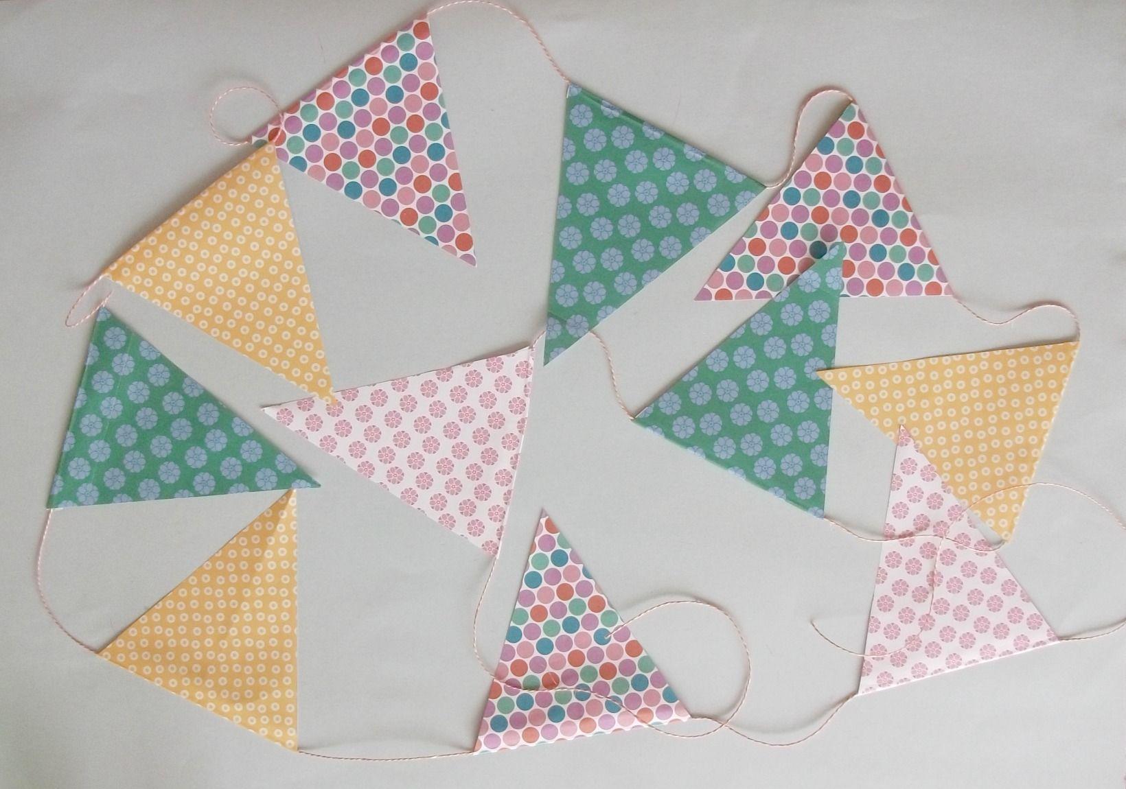 Banderines de papel hechos a mano tutorial hazlo tu mismo for Decoracion con papel barrilete