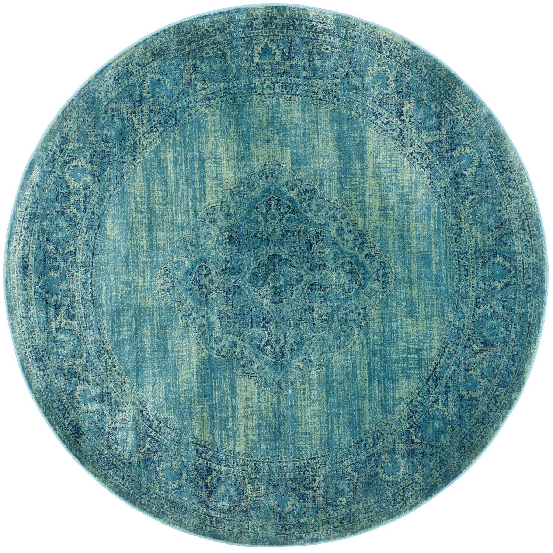 Hendrix Turquoise Round Rug