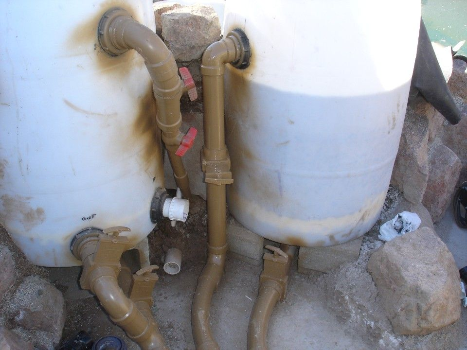 55 Gal Drum Sand and gravel filter/DIY Pond filters, Diy