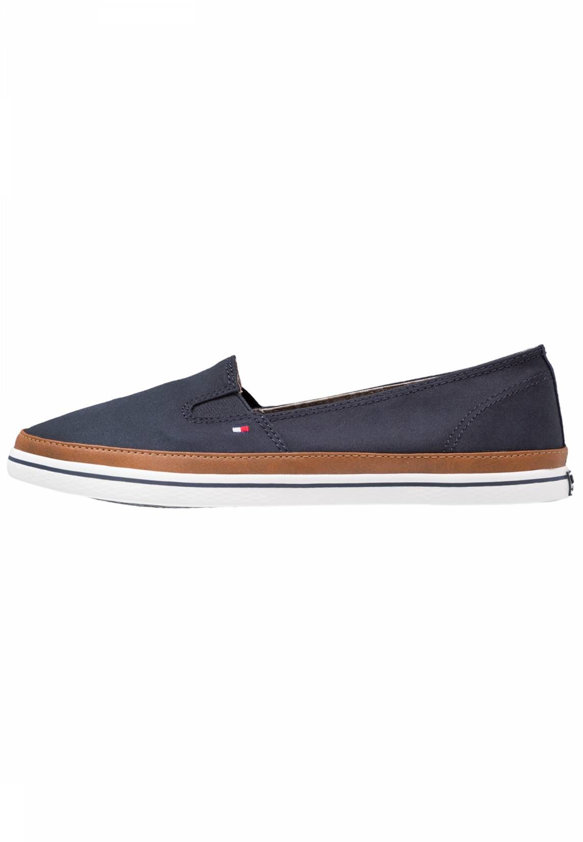 3d749f40b428f Tommy Hilfiger. Slip-ons - dark blue. Sole synthetics. Shoe tip