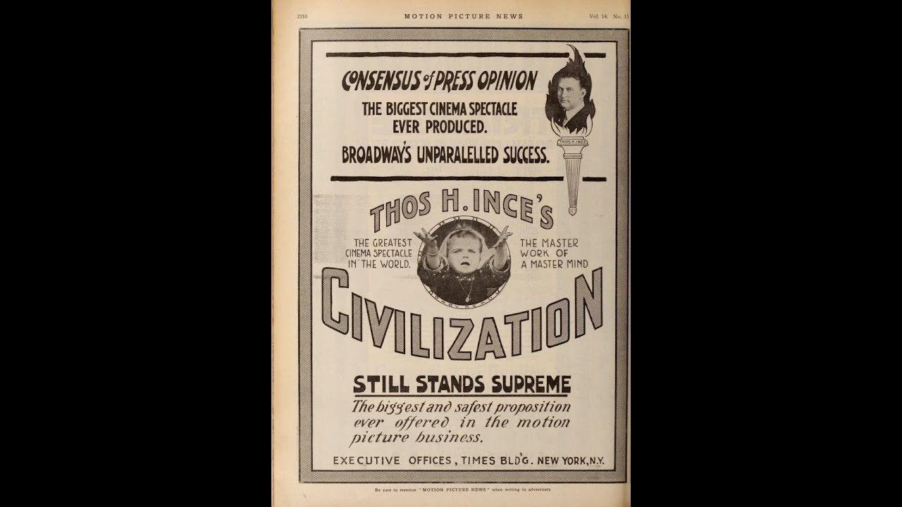 Scott Lord Silent Film: Civilization (Thomas H Ince, 1915)