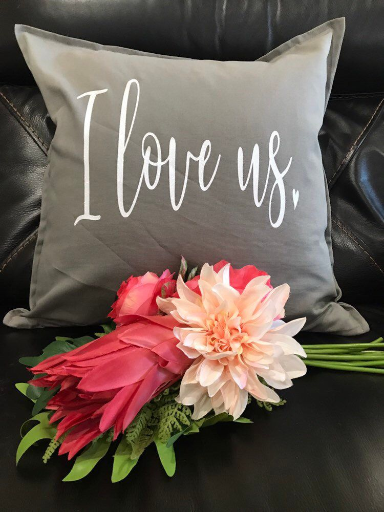 throw pillow engagement present wedding gift Throw Pillow I love You More Than Coffee calligraphy Handmade in the USA home decor cushion cover housewarming gift