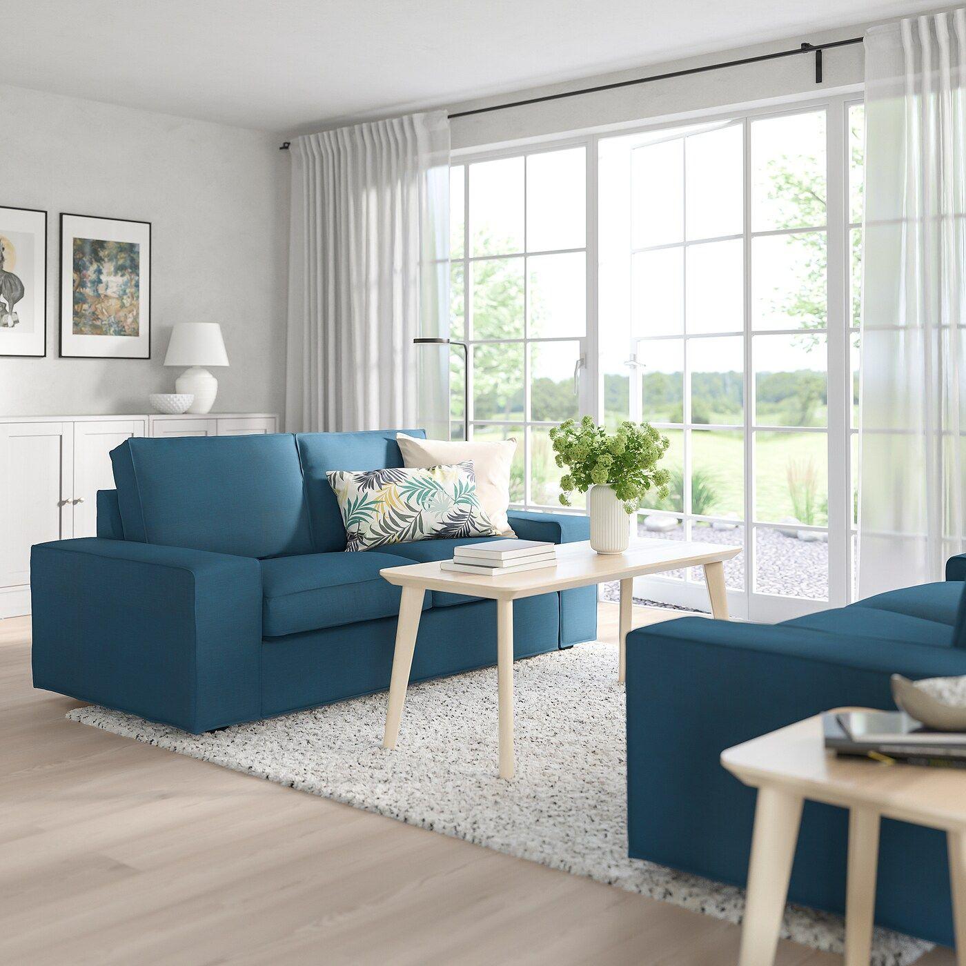 Kivik 2er Sofa Hillared Dunkelblau Ikea Osterreich In 2020 2er Sofa Kleines Sofa Und Sofa