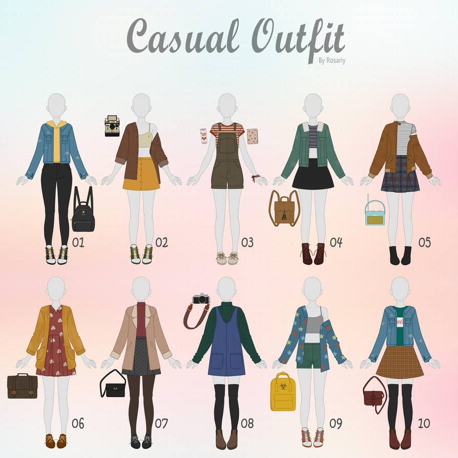 Open 1 10 Casual Outfit Adopts 27 By Rosariy Fashion Design Sketches Fashion Sketches Casual Outfits
