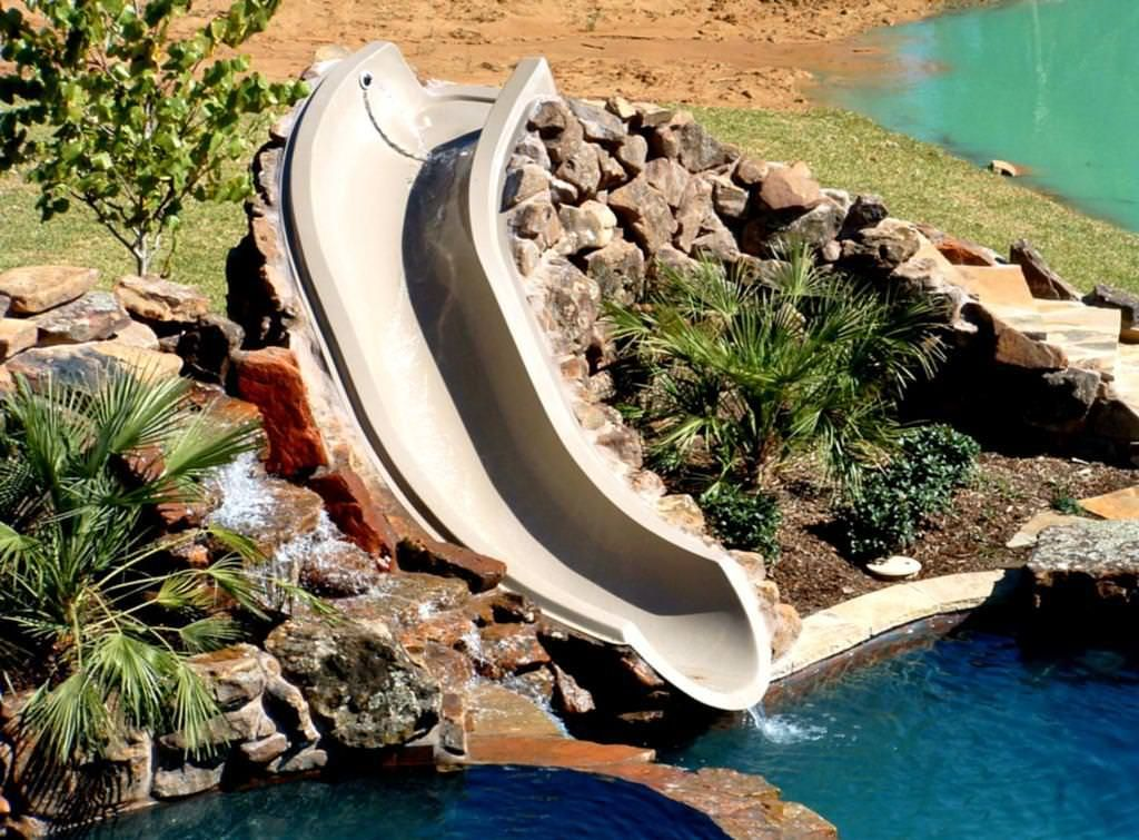 Used Above Ground Pool Slides | FARM | Pool fountain, Above ...
