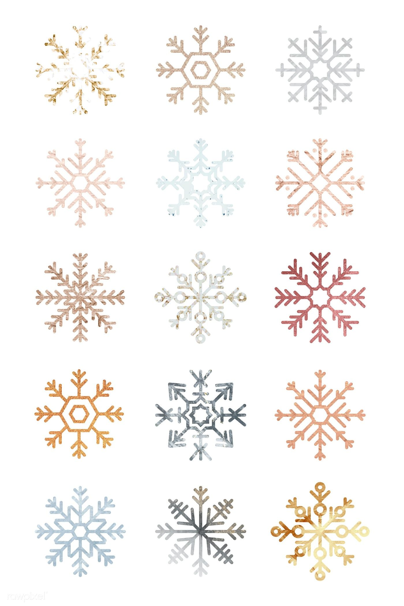 Download premium vector of Christmas snowflakes decorative