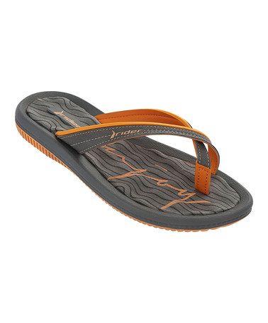 fee41f18671f8 This Orange   Gray Dunas V WM Flip-Flop - Women by Rider Sandals is  perfect!  zulilyfinds