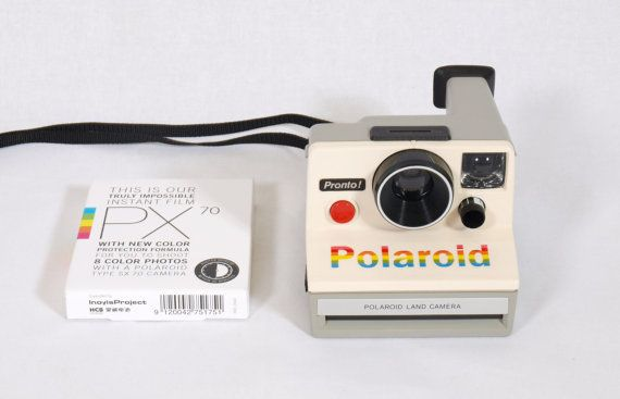 Rare Polaroid SX 70 Rainbow Land Camera by ViejitaCustomVintage