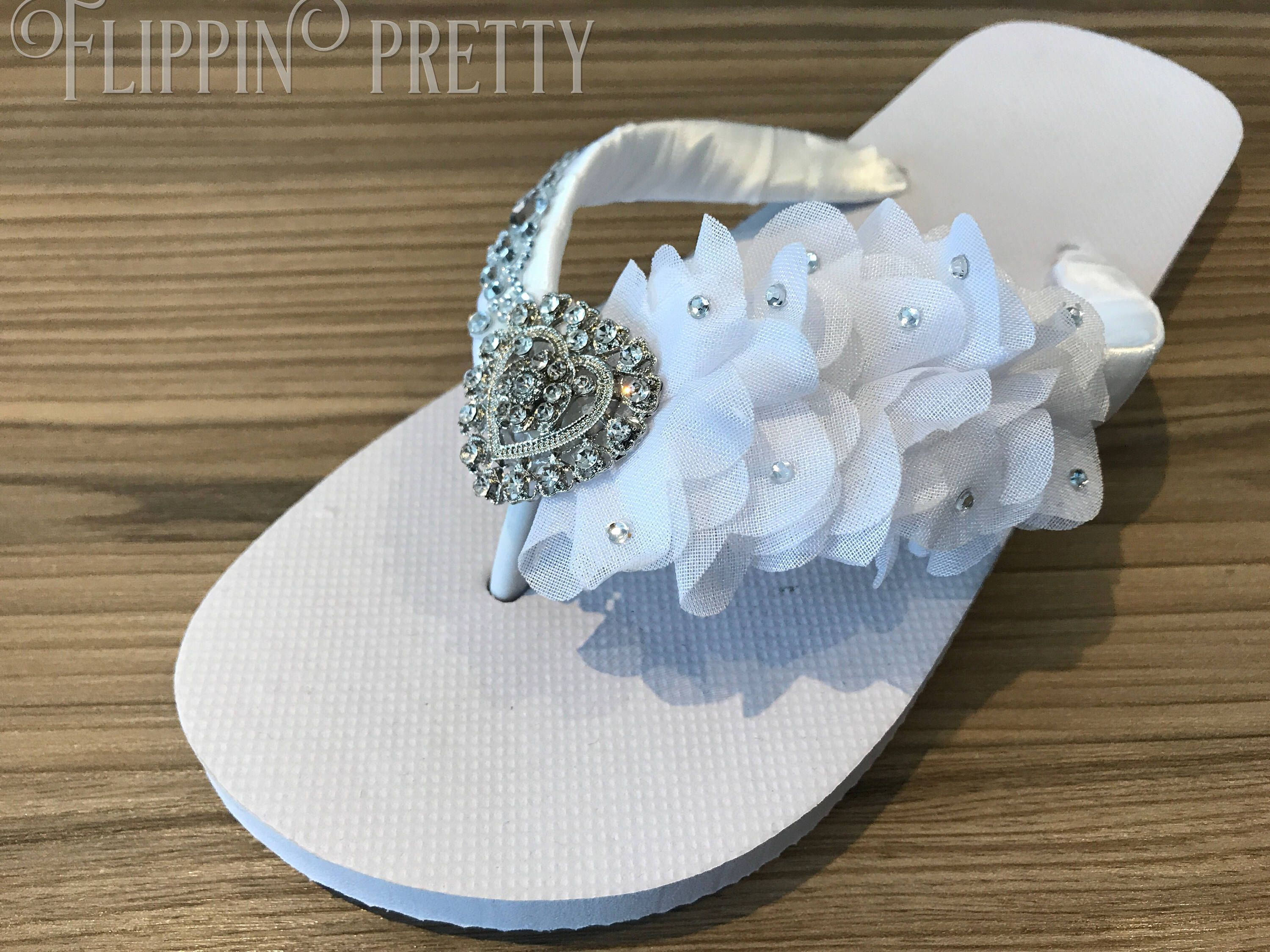 ec57199b48a6a Excited to share the latest addition to my  etsy shop  Bridal flip flops  wedding