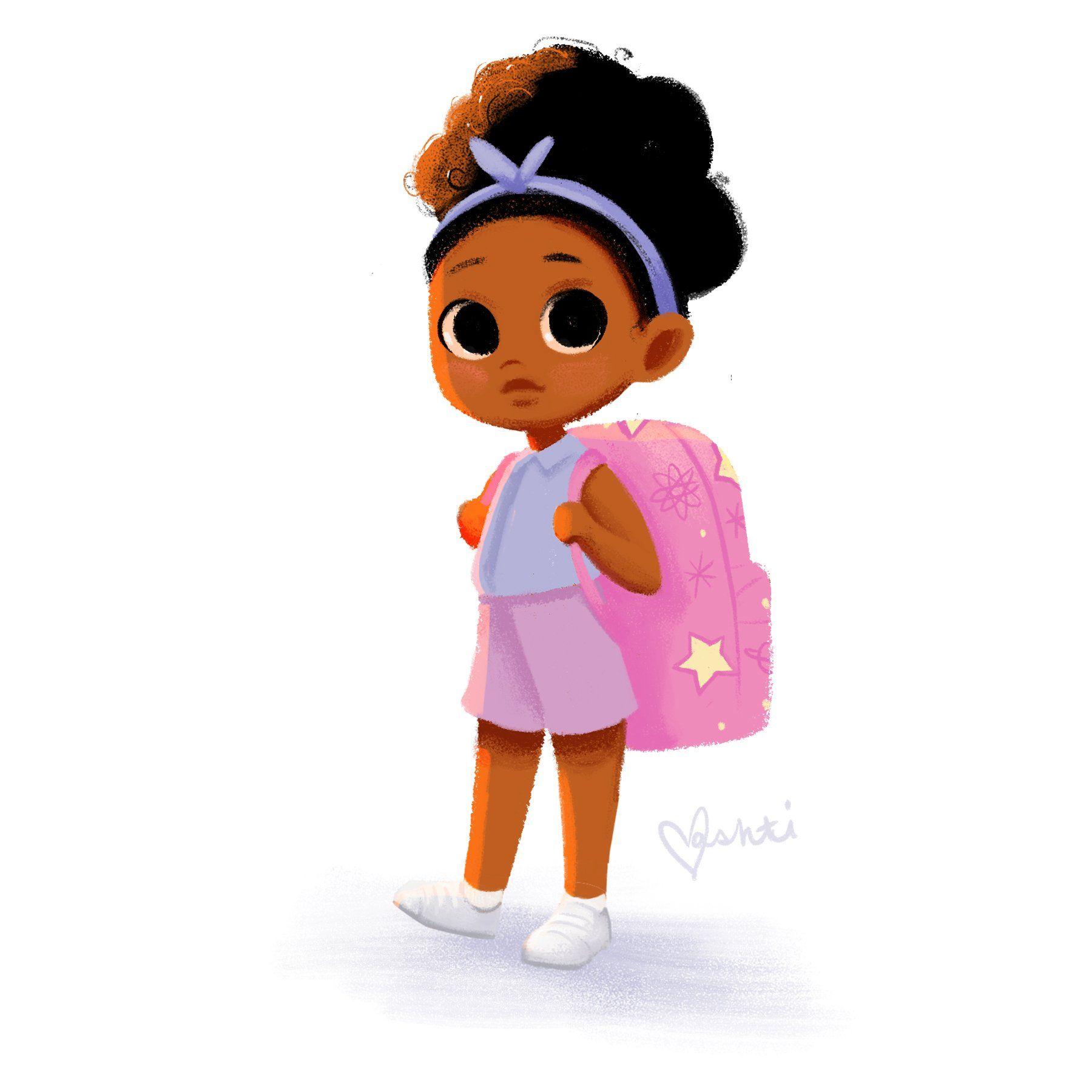 Twitter Black Girl Art Black Girl Cartoon Black Girl Magic Art