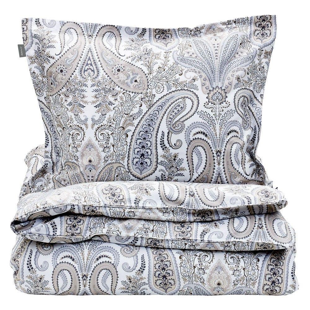 Gant Key West Paisley Bed Linen Grey Paisley Bedding Paisley Duvet Grey Linen Bedding