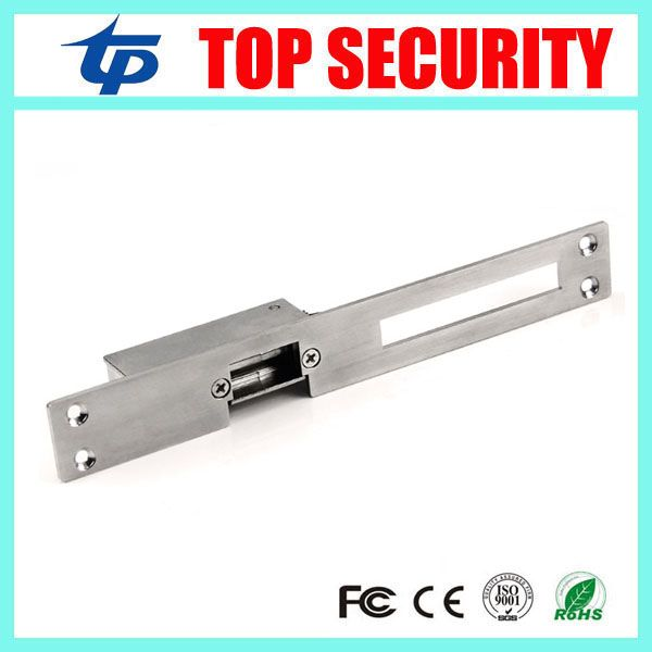 Good Quality Long Type Electric Door Lock Electric Strike Stainless Steel Electric Strike 12v Narrow Power To Lock Elec Electric Lock Access Control Door Locks