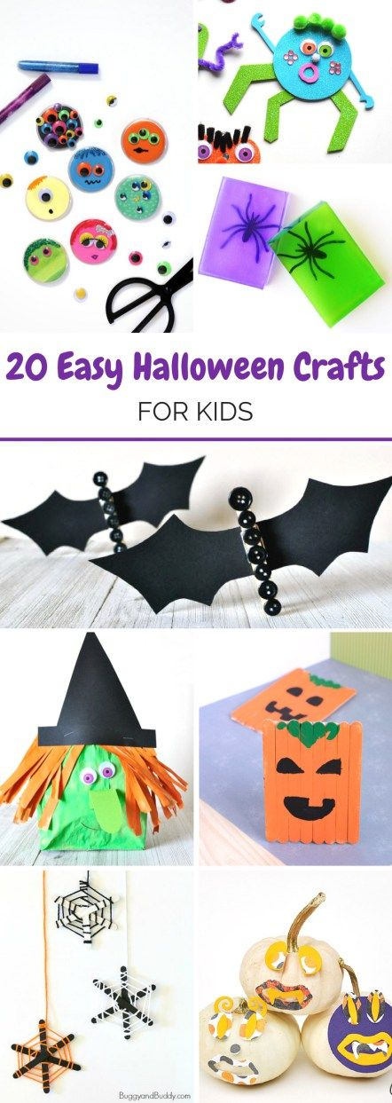 20 Easy Halloween Crafts for Kids Easy halloween, Holidays and Craft - how to make halloween decorations for kids