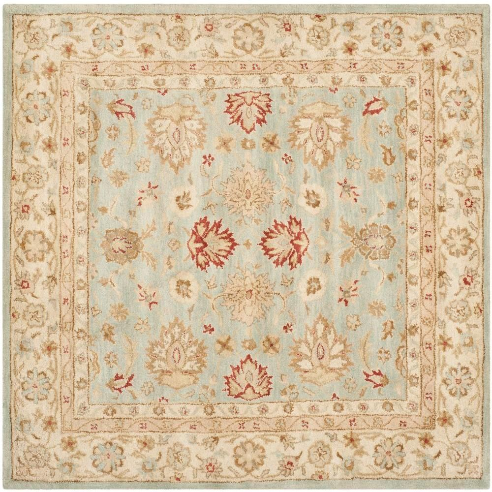 Safavieh Antiquity Grey Blue Beige 10 Ft X 10 Ft Square Area Rug Gray Blue Beige Beige Area Rugs Area Rugs Rugs