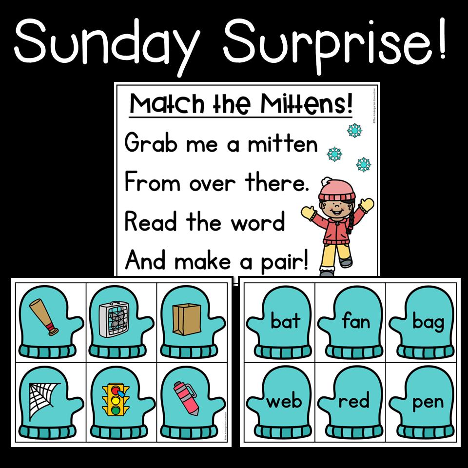 Sunday Surprise Cvc Words Cvc Words Kindergarten Winter Kindergarten [ 960 x 960 Pixel ]
