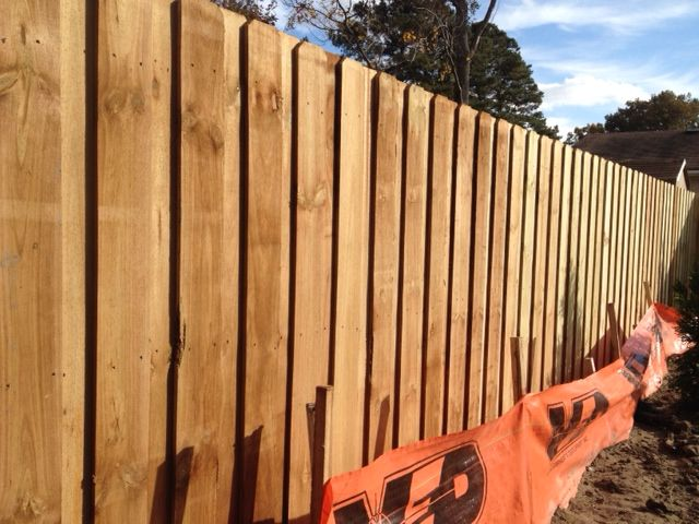 Top Notch Fence Co Board On Board Privacy Fence In Raleigh With Images Fencing Companies Fence Fence Contractor