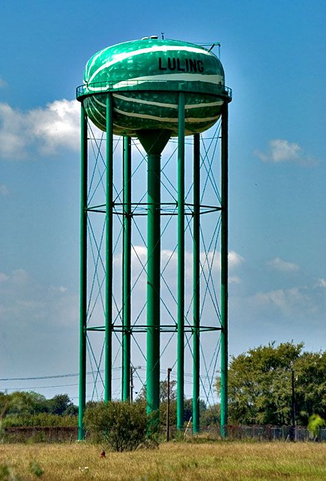 Luling Tx Watermelon Water Tower Tower Stars At Night
