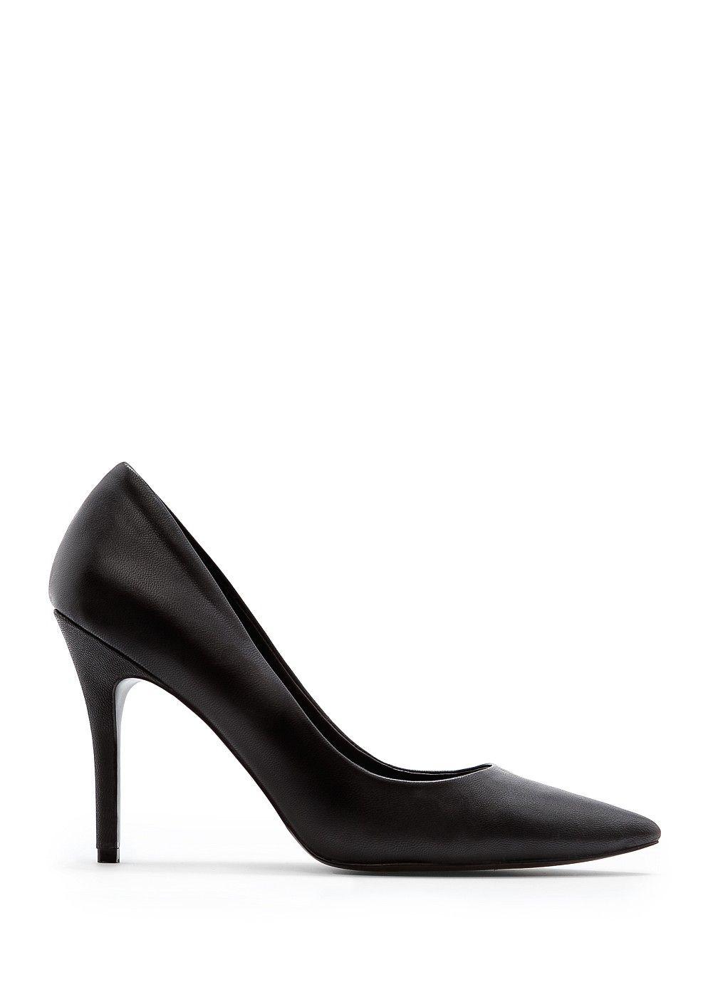 Leather stilettos - Women | Mango USA