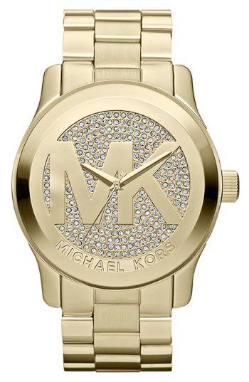 33a630673027c Michael Kors  Runway  Logo Dial Bracelet Watch