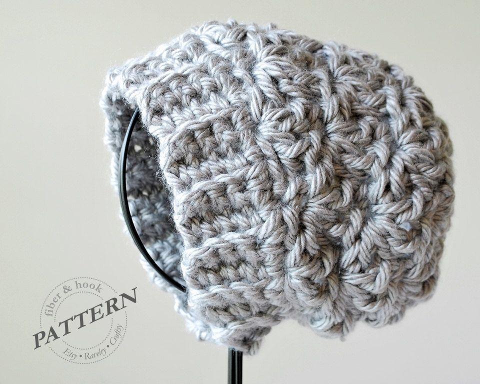 CROCHET PATTERN - Newcastle Chunky Beanie Chunky Hat Pattern Slouchy ...