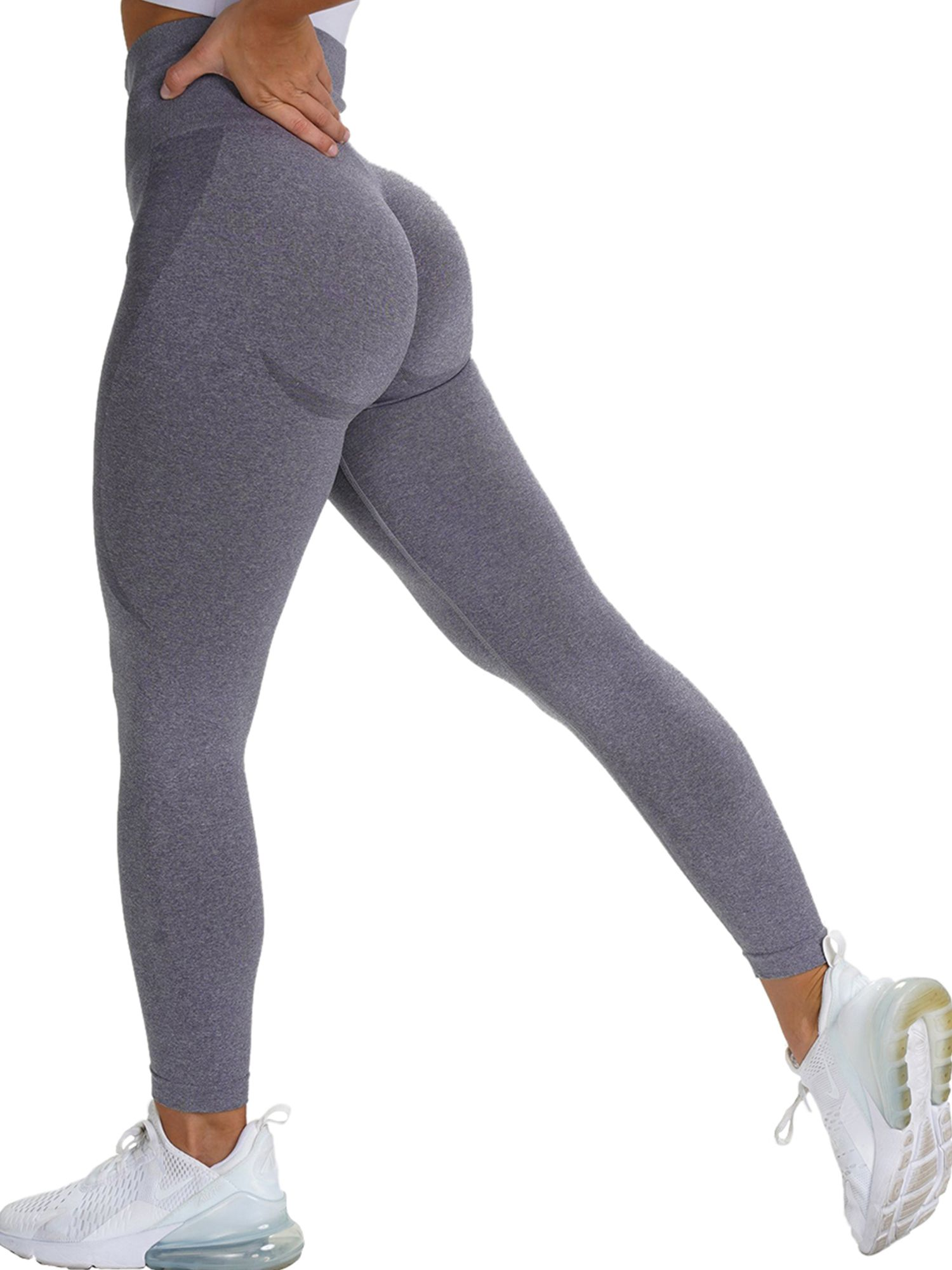 Womens High Waist Yoga Pants and Sports Bra Set Tummy Control Workout Running Stretch Sports Leggings
