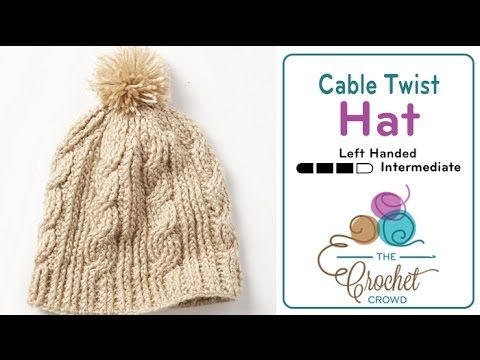 The Crochet Twist Stitch Messy Bun Hat is the sister of the Cable Twist Hat featured in early 2016. This spectacular is one of the most popular hats in tutor...