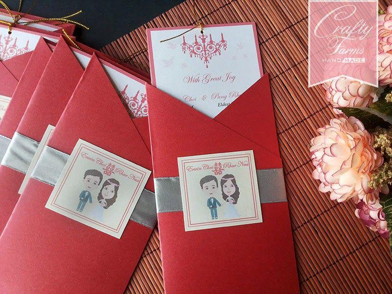 Cartoon Wedding Card Oriental Chinese Theme Pocket Wedding Card Wedding Cards Wedding Cards Handmade Wedding Card Design